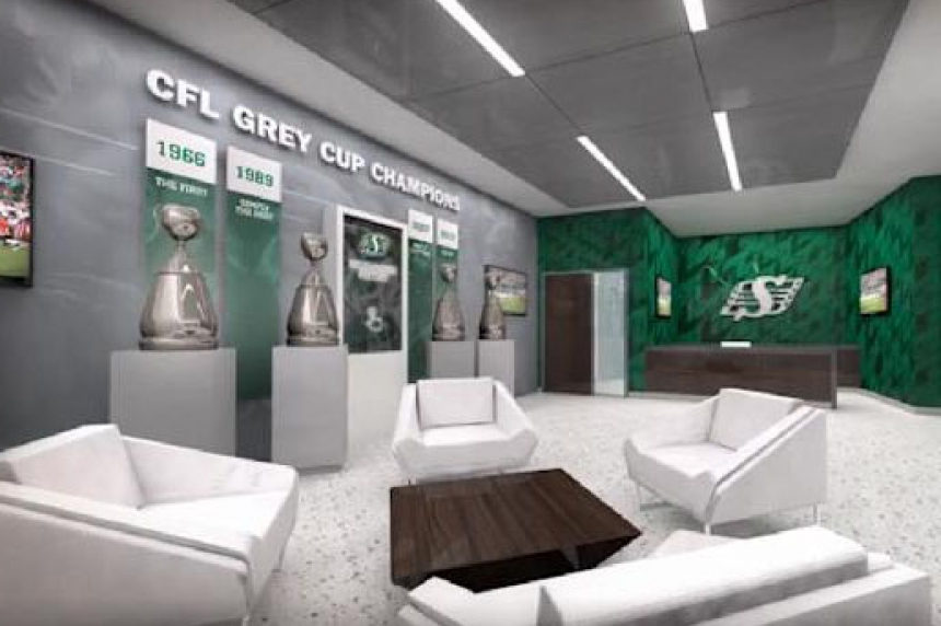 Check out the Roughriders' rooms at the new Mosaic Stadium
