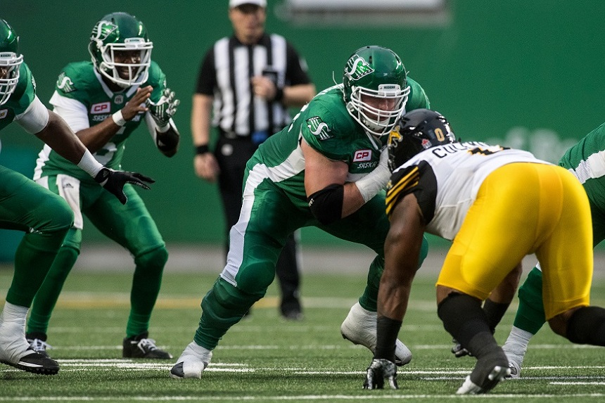 Riders juggle offensive line after Clark injury