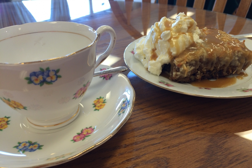 Vintage Tea Room marks Queen's birthday with royal cake