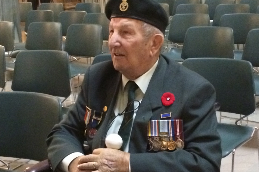 'Death all over:' Veteran recalls horrors of war on Remembrance Day