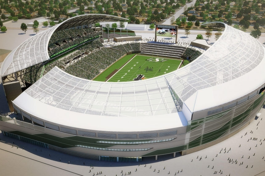 Seats being installed at new Mosaic Stadium