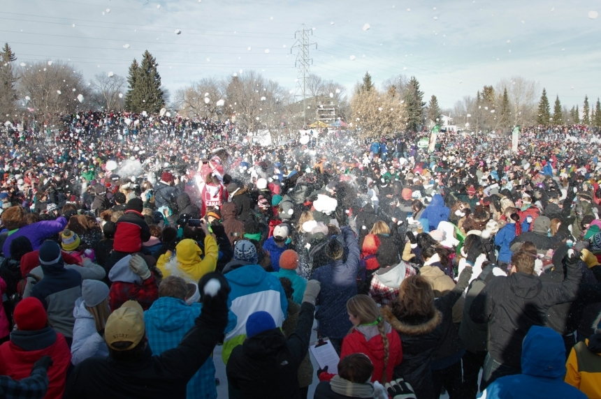 Take that Seattle: Saskatoon nabs record for world's largest snowball fight
