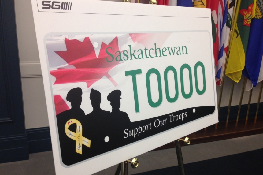 Sask. introducing 'Support our Troops' licence plates