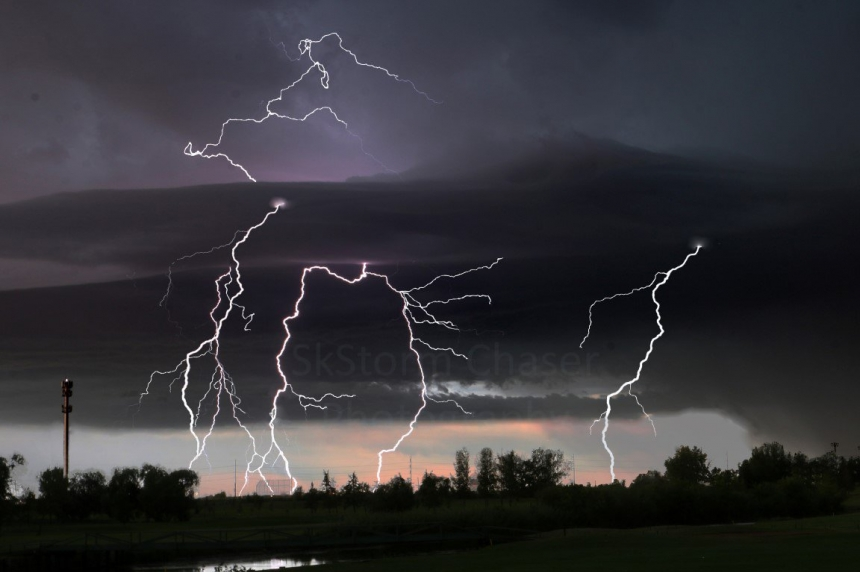 Potential for heavy rain, hail and funnel clouds across south and central Sask.