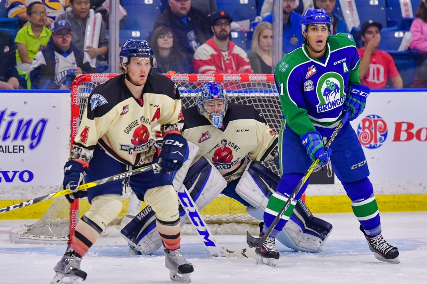 Broncos spoil Blades home opener