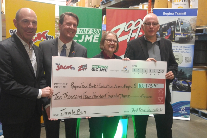 Regina charities receive over $10,000 from Jingle Bus