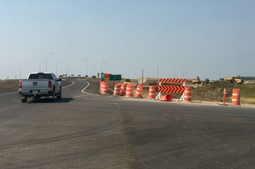 New overpasses at White City, Balgonie noty operational