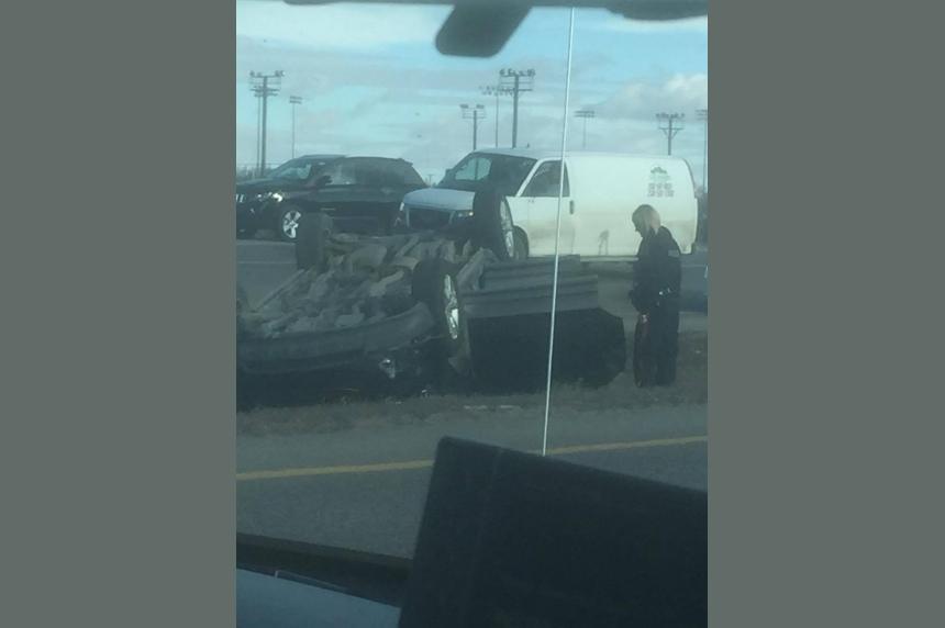 Crash slows traffic to a crawl on Regina's Ring Road