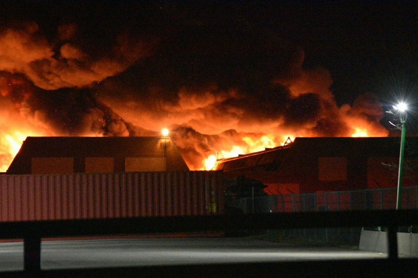 Fire destroys part of old GM plant in Regina