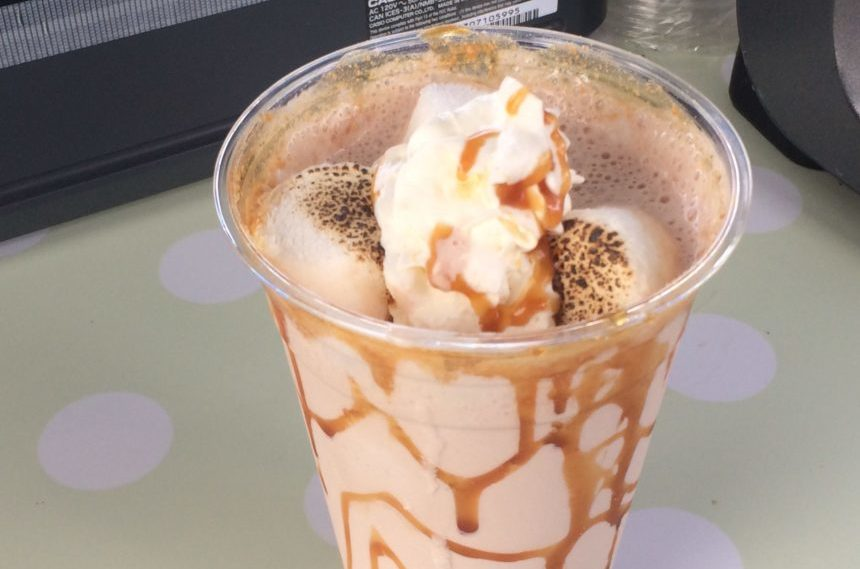 A toasted marshmallow milkshake is a drink option available at the Queen City Ex on August 2, 2017. (Sarah Mills/980 CJME)