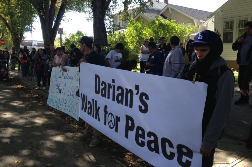 Walk for murdered Regina teen calls for end to gang violence