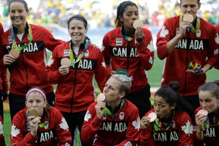 Canada wins bronze in women's soccer with 2-1 win over Brazil