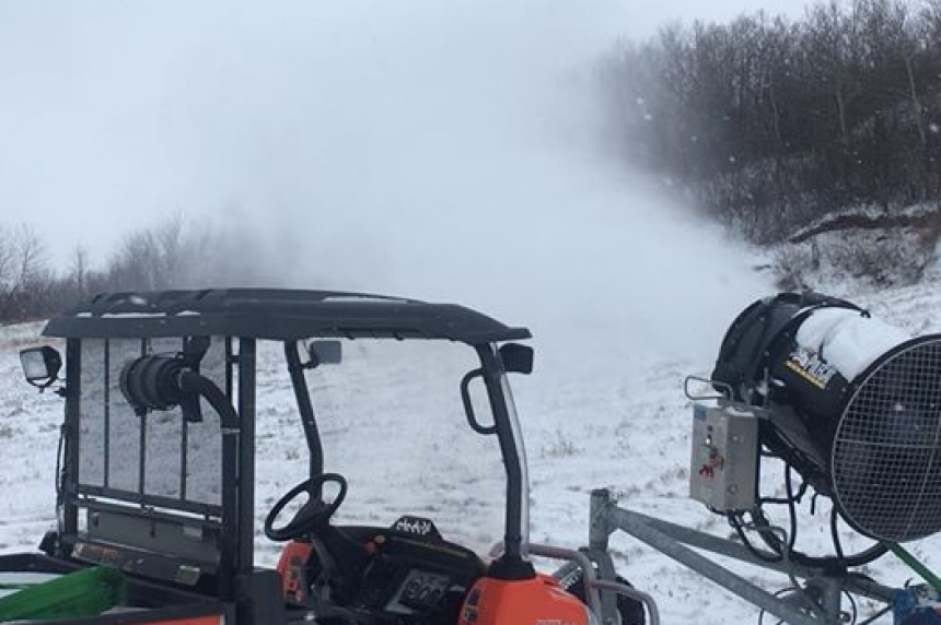 Mission Ridge making snow for opening day