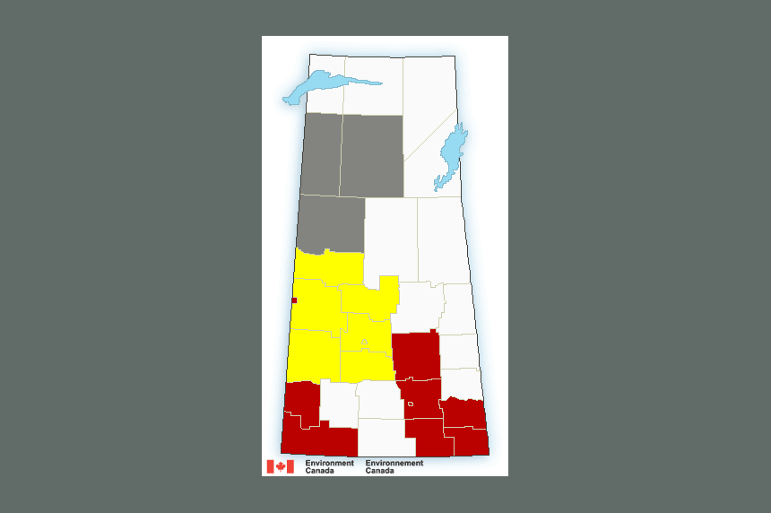 Storms expected to bring heavy rain, 100 km/h wind to Sask.
