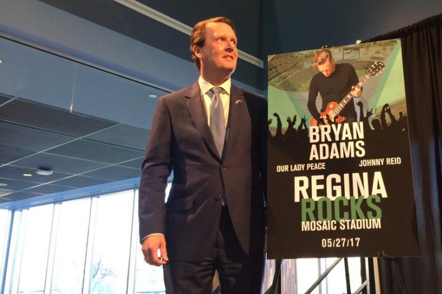 Bryan Adams to rock Mosaic Stadium at venue's 1st concert