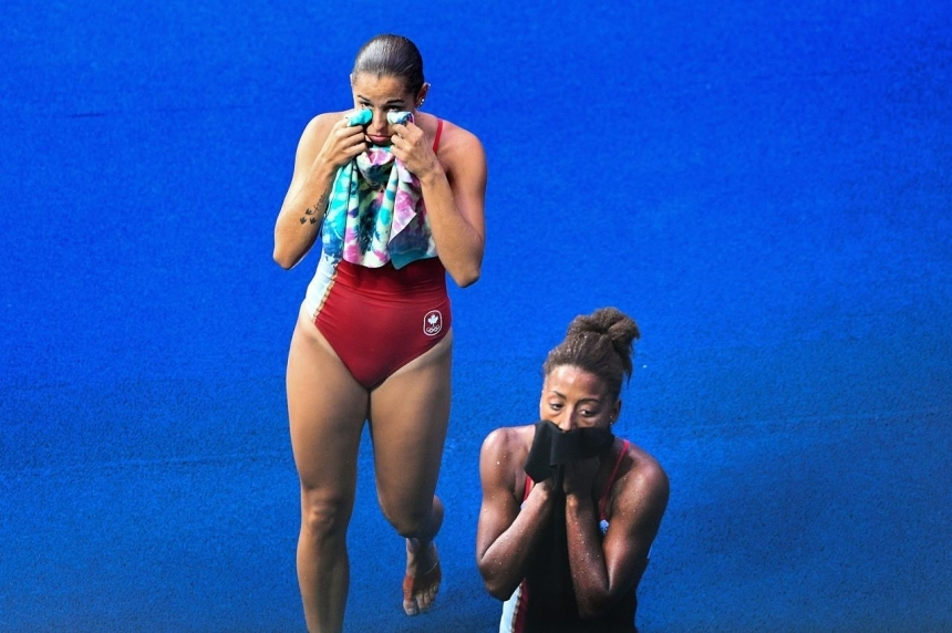 Canadian divers Abel and Ware finish fourth in Olympic synchro event