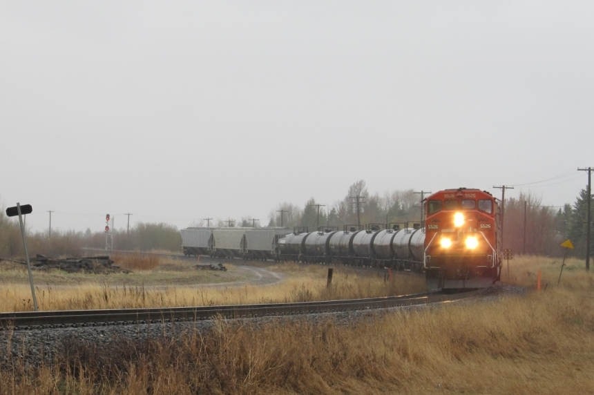Saskatoon driver suffers minor injuries after run-in with train