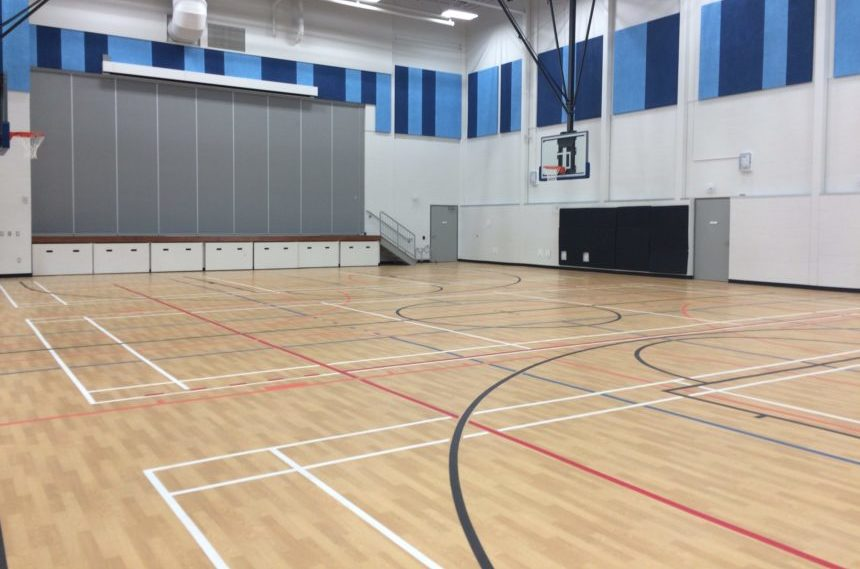 mâmawêyatitân centre features two gymnasiums, one used primarily for students from Scott Collegiate and the other more for the broader community. (Kevin Martel/980 CJME)