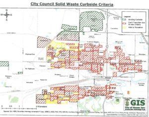 Moose Jaw Curbside Garbage Map