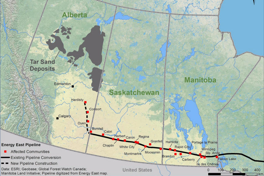 Energy East Pipeline Map- Council of Canadians Flickr