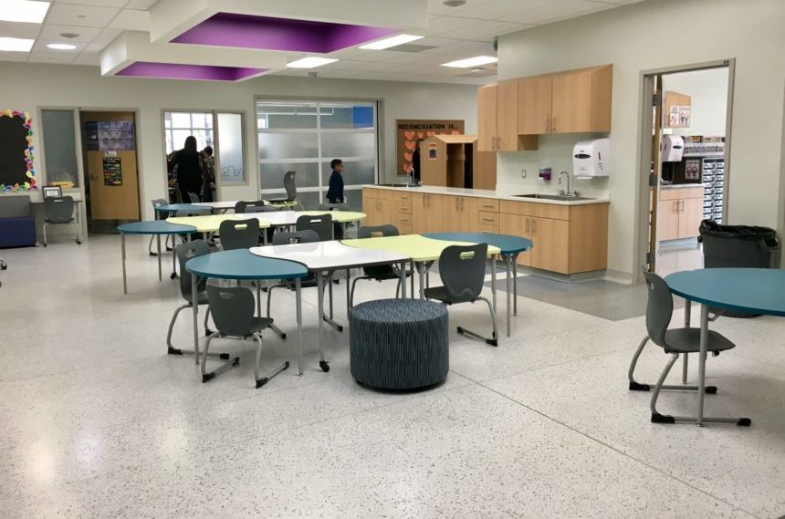 The 10,000 square foot École Connaught Community School celebrated its grand opening on Oct. 20, 2017. (Jessie Anton/980 CJME)