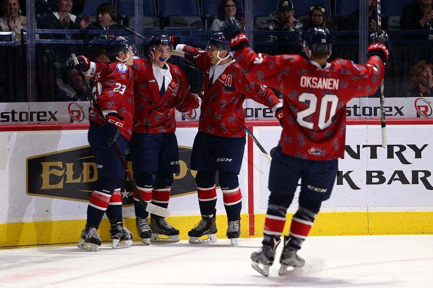 Pats beat up Blades 7-3 in penalty-ridden game
