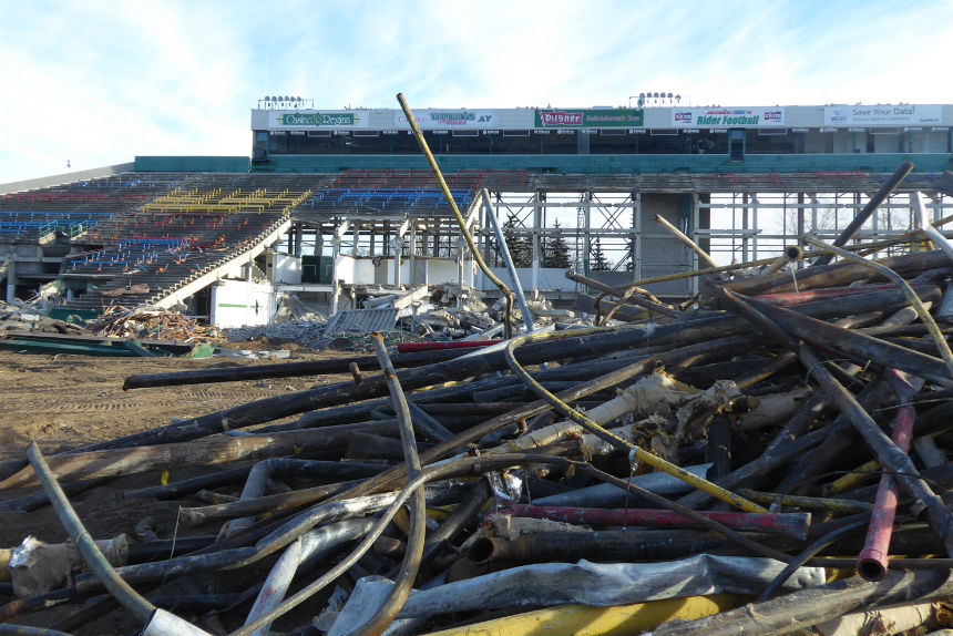 Plans for 'dramatic' collapse of Taylor Field grandstand