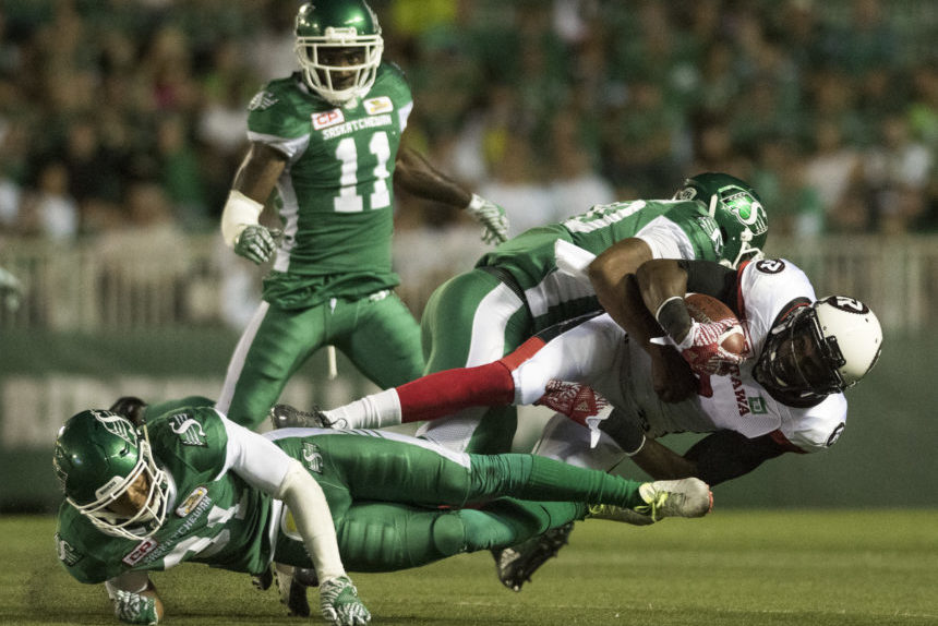 Stopping Harris and the run key for Riders against Redblacks