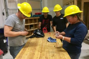 Trades - Evangeline Licayo with classmates in plumbing program at Regina Trades and Skills - JA - Oct 20 2017