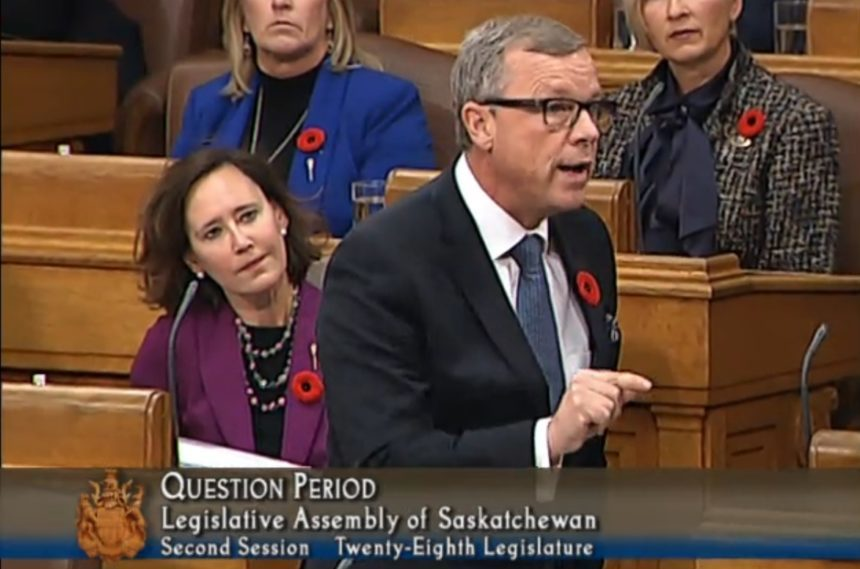 Last day in legislature for Saskatchewan Premier Brad Wall