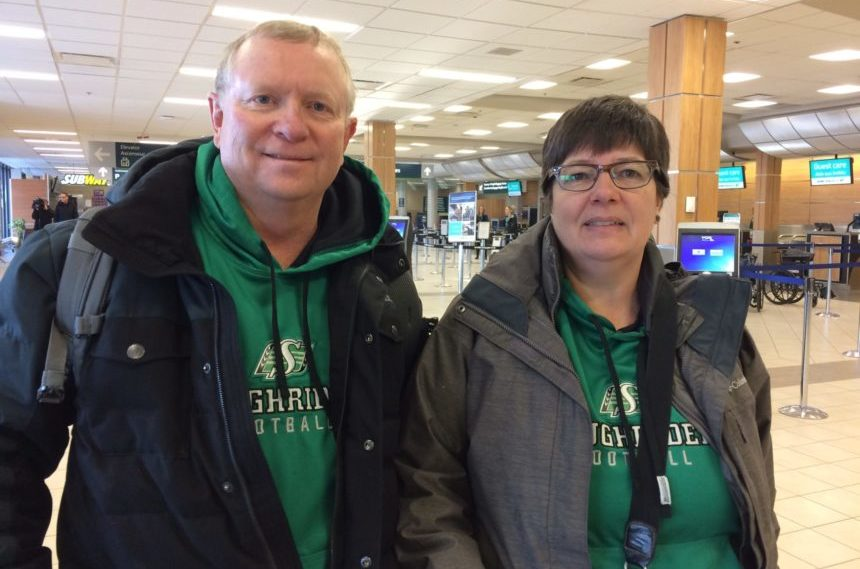 Roughrider fans fly east to cheer on team