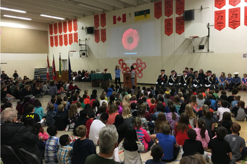 Students gather to remember those who fought for our country