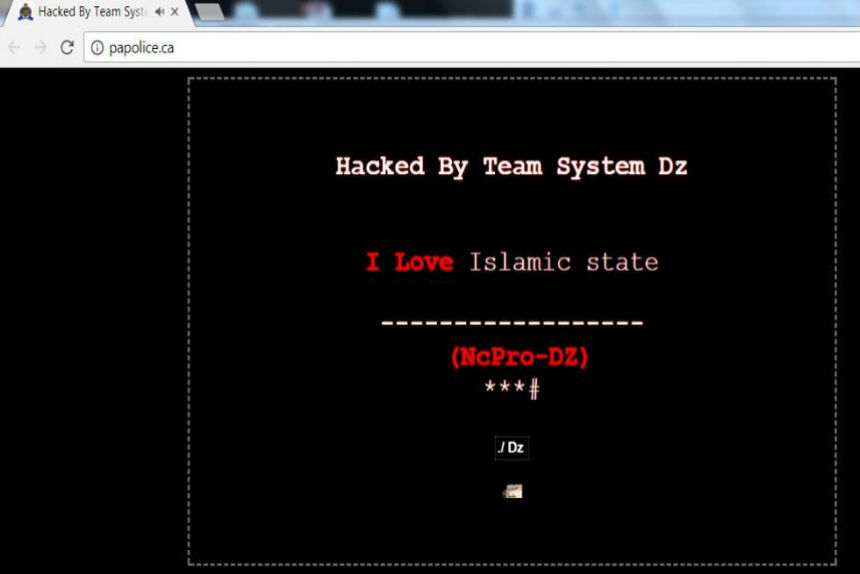 Group with pro-ISIS message hacks Prince Albert police website