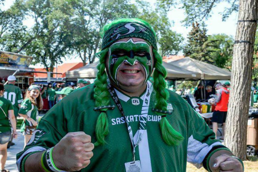 Rider Fan Nathan Clearihue. (Submitted via Facebook)