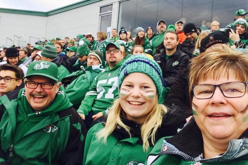 Rider Fan Trudy Billett. (Submitted)