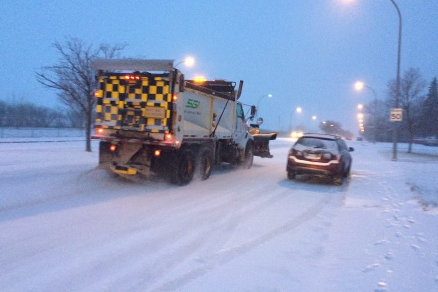 Highways icy with more snow on the way for south Sask.