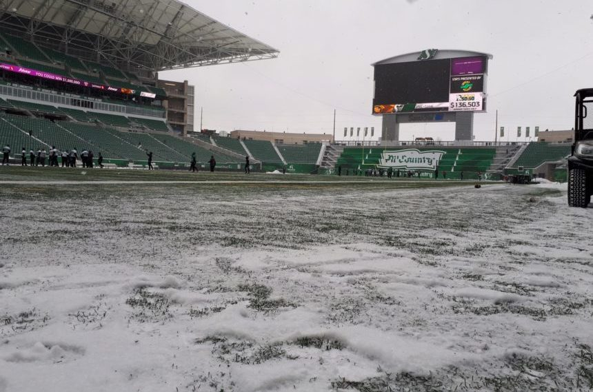 Ready, set, shovel: clearing snow from Mosaic Stadium