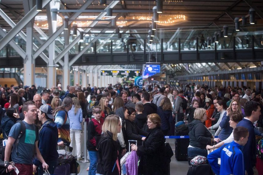 Record holiday travellers could cause delays at Canadian airports
