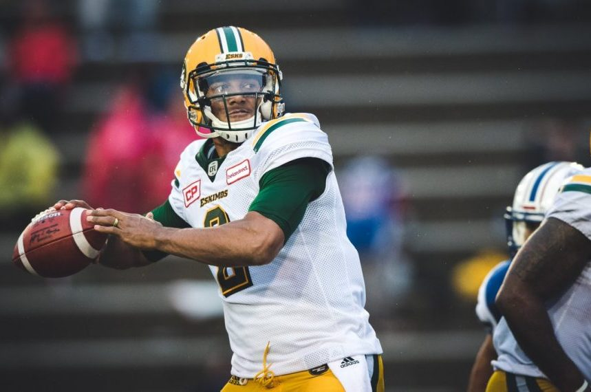 Edmonton Eskimos trade backup QB Franklin to Toronto