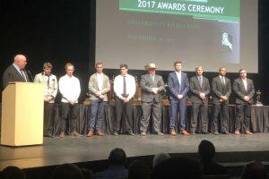 Rams Football Awards - Graduating Rams players receive their rings - Dec 1 2017