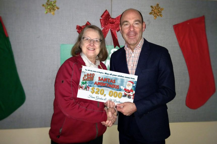 Rawlinson family donates $20,000 to Salvation Army