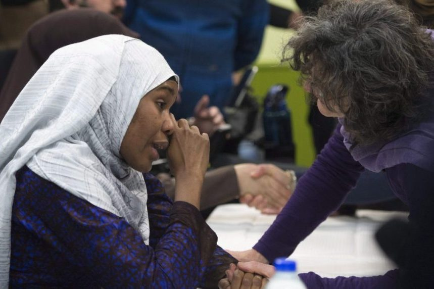 Quebec City mosque hosts emotional gathering to mark anniversary of massacre
