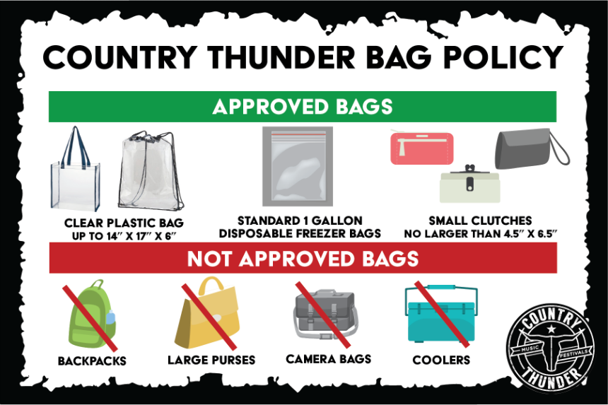 Country Thunder introduces new bag policy for 2018