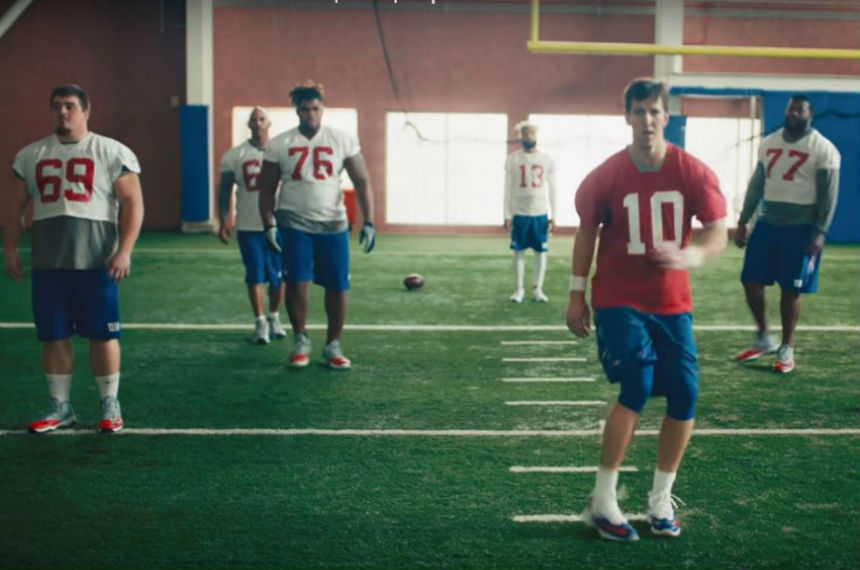 Weyburn NFL player cameos as backup dancer in Super Bowl ad