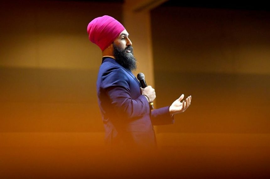NDP leader attacks web giants, defends taxes in call-to-arms for equality