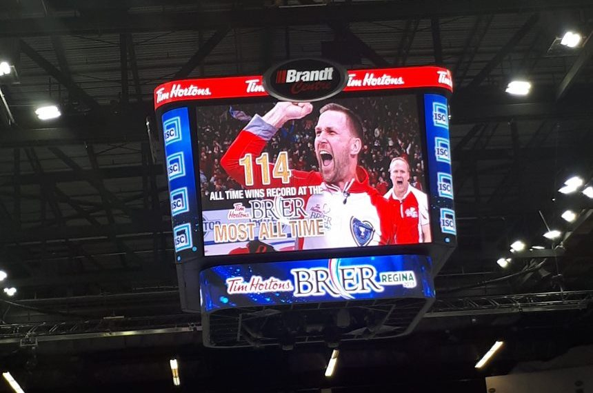 Team Canada skip Brad Gushue sets Brier record with 114th win