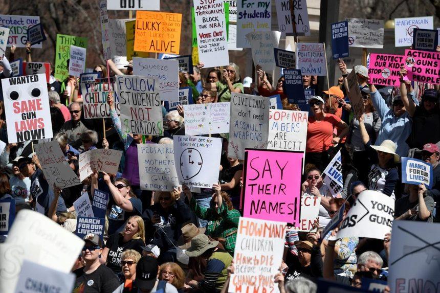Anguished students take aim at gun laws, next election