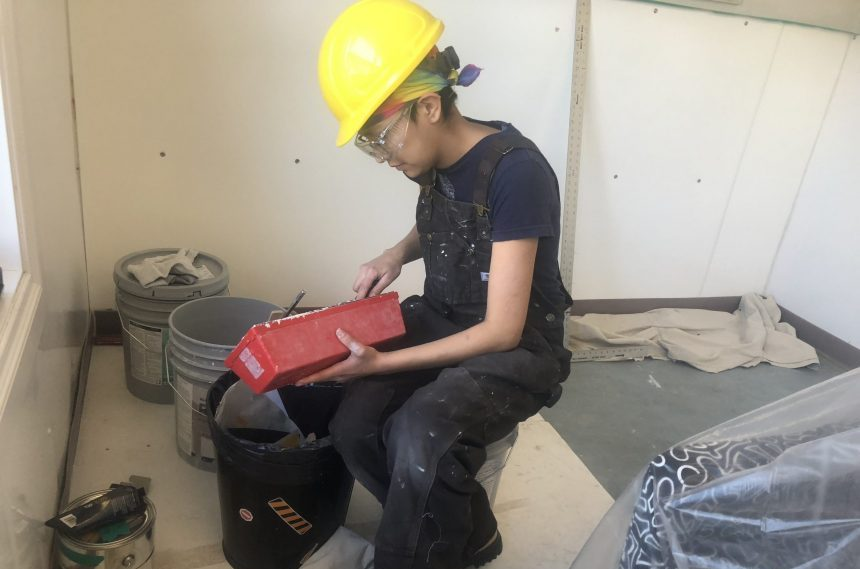 Regina Trades and Skills Centre students paint daycare