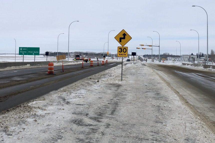 VIDEO: Diverging diamond interchange opens east of Regina