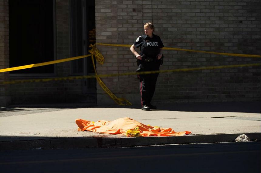 Ten dead, 15 injured in van incident authorities call an horrific attack